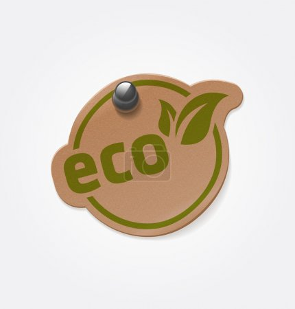 Photo for Vector vintage eco sticker - Royalty Free Image