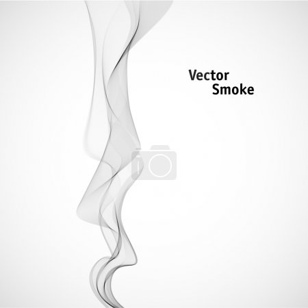 Illustration for Vector abstract grey Smoke - Royalty Free Image