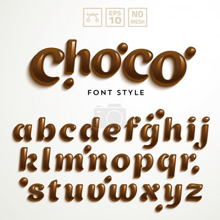 latin alphabet made of chocolate