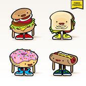 Roztomilý potravin postavy