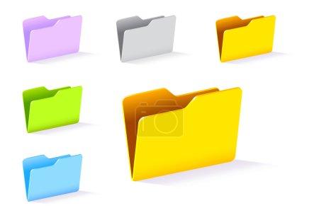 Beautiful colorful folders