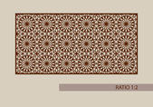 Floral ornament The template pattern for decorative panel A picture suitable for printing engraving laser cutting paper wood metal stencil manufacturing Vector Easy to edit