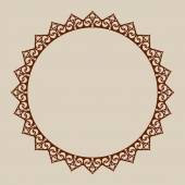 Abstract round frame with swirls Pattern is suitable for greeting cards invitations design interiors etc Template suitable for laser cutting plotter cutting or printing Vector Easy to edit