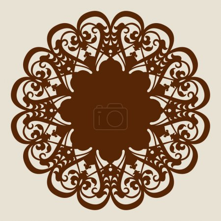 Illustration for The template mandala pattern for decorative rosette. A picture suitable for printing, engraving, laser cutting paper, wood, metal, stencil manufacturing. Vector - Royalty Free Image