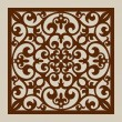 Geometric ornament. The template pattern for decor...