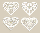 Set stencil lacy hearts with openwork pattern