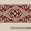 Floral ornament. The template pattern for decorati...