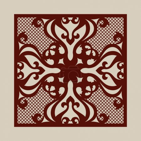 Template for laser cutting decorative pane