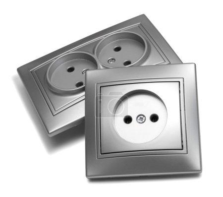 gray shiny outlets