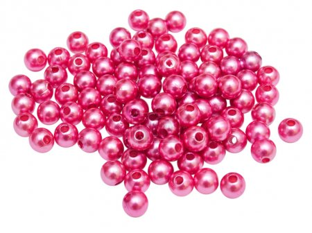 Pink beads isolated