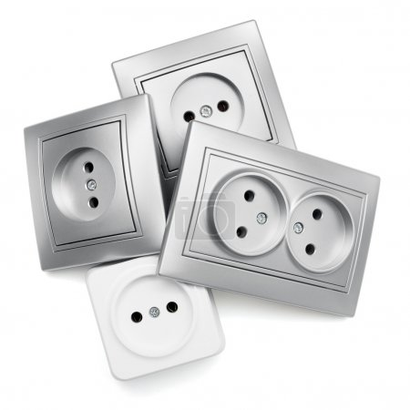 Gray and white sockets