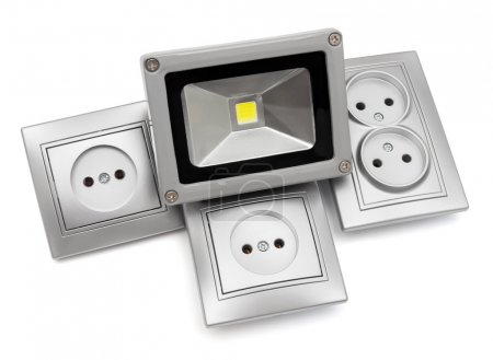 Sockets and led spotlight