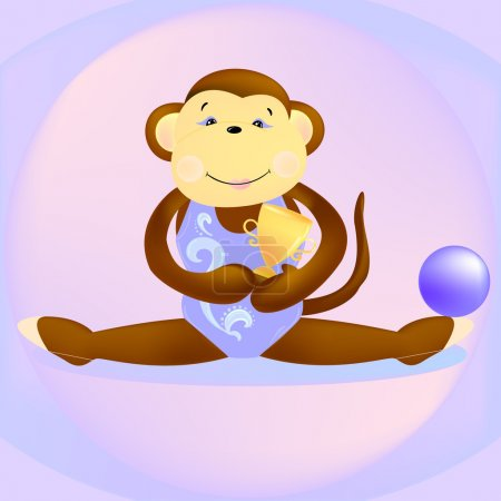 Monkey rhythmic gymnast