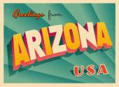 Vintage Touristic Greeting Card - Key West Arizona - Vector EPS10 Grunge effects can be easily removed for a brand new clean sign