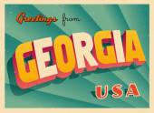 Vintage Touristic Greeting Card - Vector