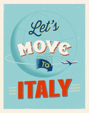 Vintage traveling poster
