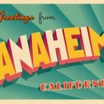 Vintage Touristic Greeting Card - Anaheim, Califor...