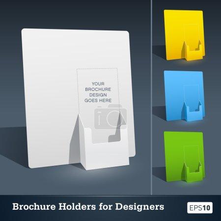 Illustration pour Modèle de porte-brochure vierge pour concepteurs - image libre de droit