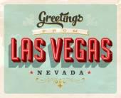 Vintage Touristic Greeting Card - Las Vegas - Vector