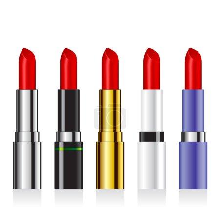 Set of vector lipsticks