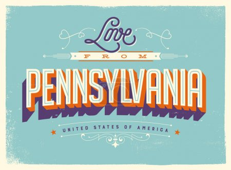 Greeting Card - Love from Pennsylvania