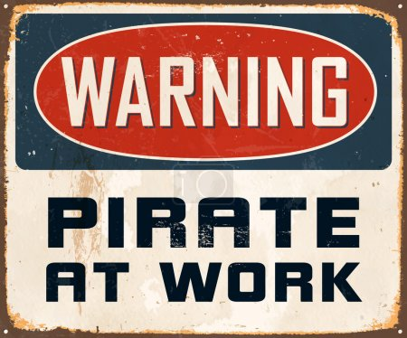 Warning Pirate At Work