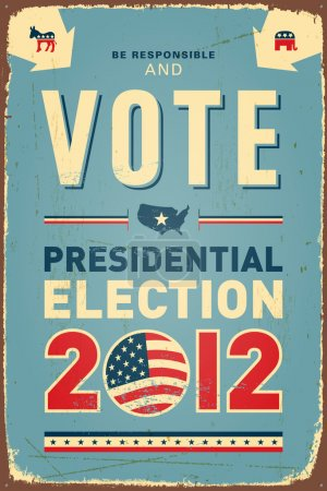 US presidential 2012 election Vintage metal sign