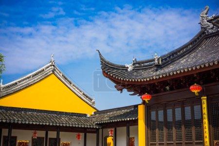 Photo for China jiangnan style eaves, closeup of photo - Royalty Free Image