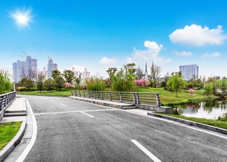 Photo for Clean road of city , rapid city traffic. - Royalty Free Image