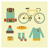 Travel objects in flat design