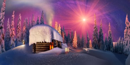 Christmas in Carpathian mountains