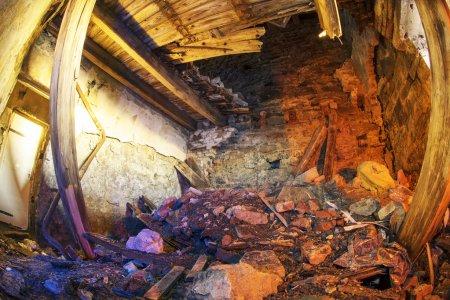 Old Polish observatory destroyed room