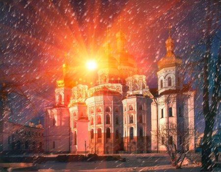 Kiev-Pechersk Lavra at sunrise