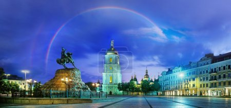 Rainbow over Hagia Sophia in Kiev