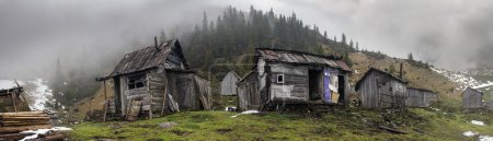 abandoned village in mountains