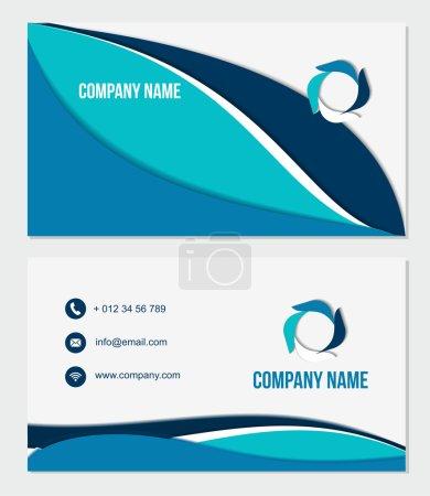 Photo pour Vector Design Modern Creative and Clean Business Card Template avec logo. Conception de matériaux plats - image libre de droit