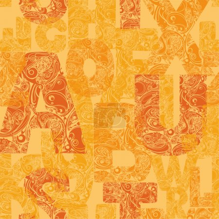 Seamless pattern with decorative letters.