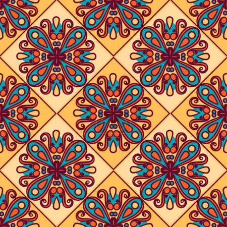 Seamless pattern. Vintage decorative elements. Oriental pattern