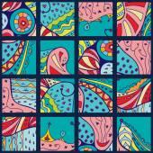 Vektorové abstraktní čmáranice vzor