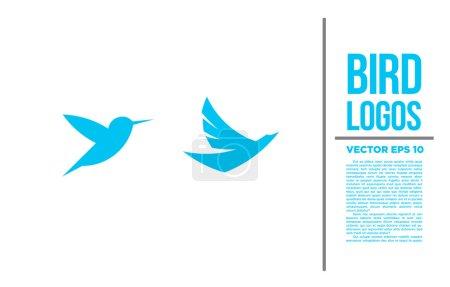 Bird Blue Tiny Logo vector logotype illustration