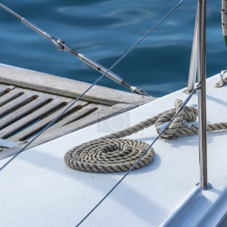 Ship's tackle at ocean yacht