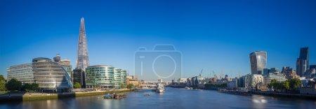 Photo pour Coup de skyline panoramique de Londres - image libre de droit