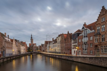 North of the Markt with church, Bruges, Belgium