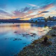 Beautiful Scottish sunset at Kyleakin village - Is...