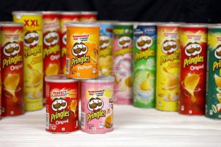 KHARKOV, UKRAINE - NOVEMBER 23, 2020: Pringles var...