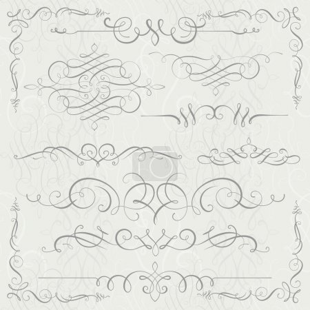 set of calligraphy swirls for your design