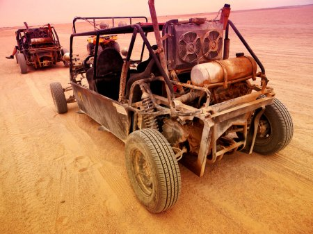 homemade offroad car  for tourist trip in egypt