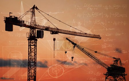 crane building  the smart city - concept