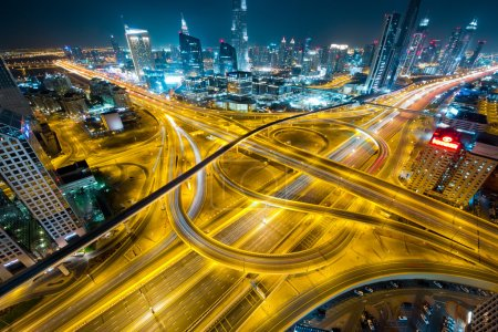 road junctions of Dubai