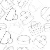 Black and white pattern of female handbags